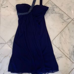 Cache Over the Shoulder Evening Dress